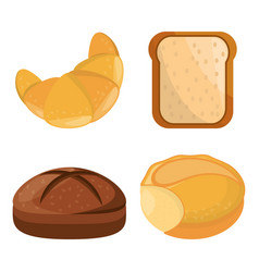 Bread bakery different style vector