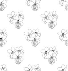 cassia fistula - gloden shower flower on white vector image vector image