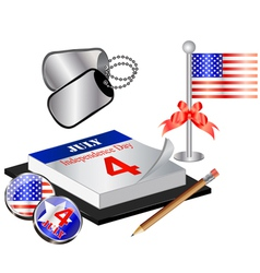 Collection for 4th july small vector image vector image