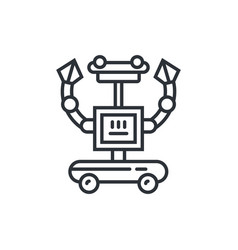 cute line robot vector image