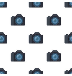 Digital camera icon in cartoon style isolated on vector