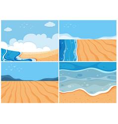 Four background scenes of ocean vector