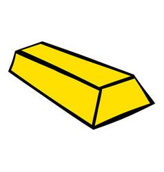 Gold bar icon icon cartoon vector