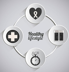 Healty lifestyle design vector