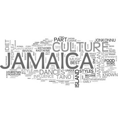 jamaica culture text background word cloud concept vector image vector image