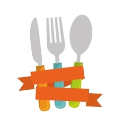 knife spoon and fork vector image vector image