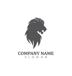 Lion solid logo vector