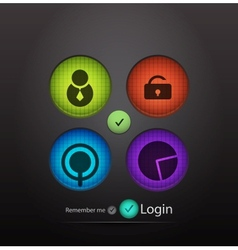 login background vector image vector image