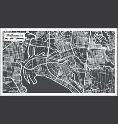 Melbourne australia map in retro style vector