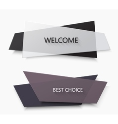 modern glossy banners or creative frame set vector image