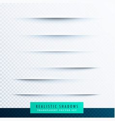 Realistic paper shadows effect collection vector