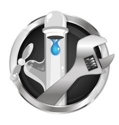 repairing a water tap symbol vector image