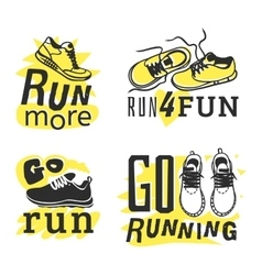 Run sport motivation vector image