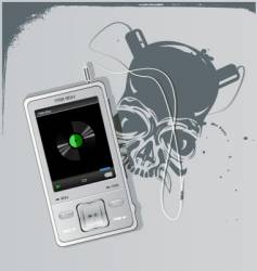 telephone and skull vector image
