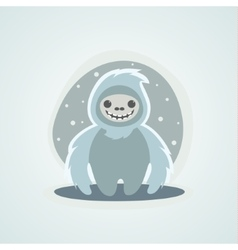 Yeti Snowman Bigfoot is a unique of vector image