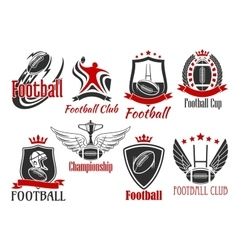 American football heraldic sports badges vector