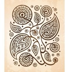 Oriental decorative pattern vector