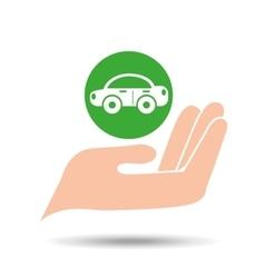 environment friendly concept car vector image