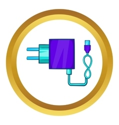 Charger for electronic cigarette icon vector