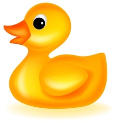 Cute rubber duck vector