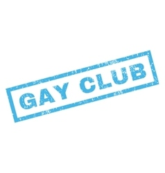 Gay club rubber stamp vector
