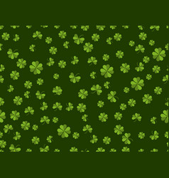St patricks day seamless pattern with clover on vector