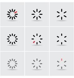 Set of progress indicators vector
