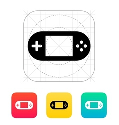 Gamepad screen icon vector