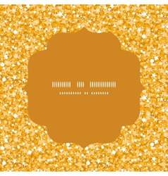 Golden shiny glitter texture circle frame seamless vector