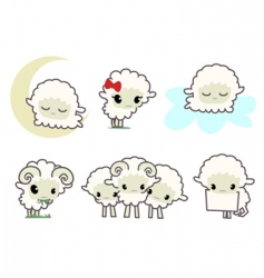 little sheep's vector image