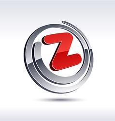 3d z letter icon vector