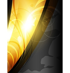 Shiny golden wave vector