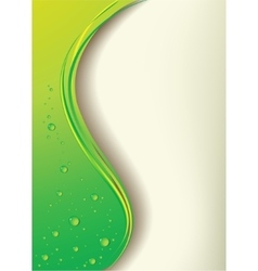 A green background with drops vector