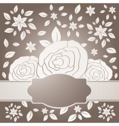 Three roses with label vector