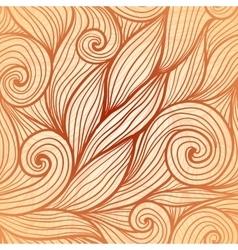Beige doodle hair seamless pattern vector image