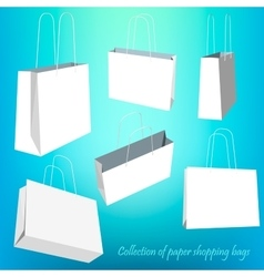 Creative concept set of empty shopping bag vector