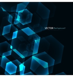 Hexagon digital technology blue background vector