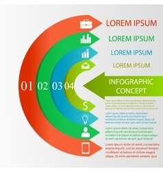 Semicircle infographic concept vector
