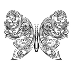 Butterfly vintage decorative elements tattoo vector