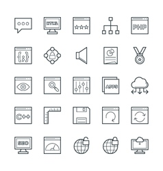 Design and development cool icons 3 vector