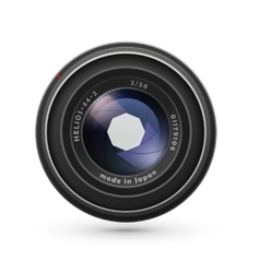 Photo lens isolated on white vector image