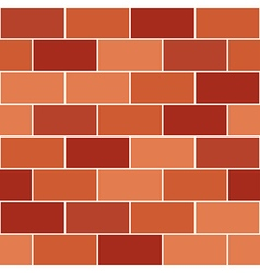 Red orange brick wall vector