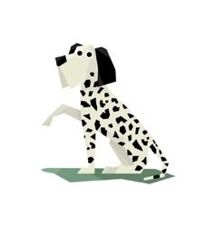 Black and white dalmatian dog vector