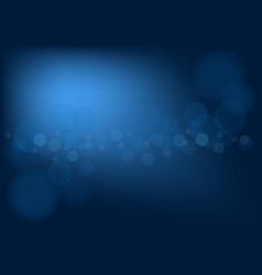 Abstract dark blue background with bokeh effect vector