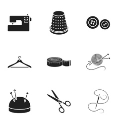 Atelie set icons in black style Big collection of vector image vector image