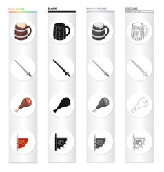 Attributes tourism museum and other web icon in vector