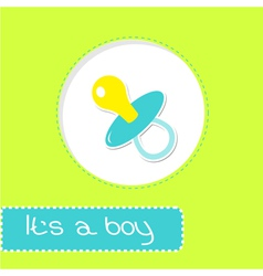 Baby boy pacifier Shower card vector image
