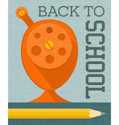 Back to school banner poster design vector