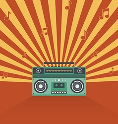 Boombox retro vintage style vector image vector image
