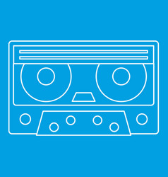 Cassette tape icon outline style vector